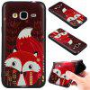 3D Embossed Color Pattern TPU Soft Back Case for Samsung Galaxy J3 2016 - RED