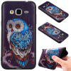 3D Embossed Color Pattern TPU Soft Back Case for Samsung Galaxy J3 2016 - BLUE AND BLACK