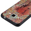 3D Embossed Color Pattern TPU Soft Back Case for Samsung Galaxy J3 2016 - RED AND GREEN