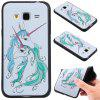 3D Embossed Color Pattern TPU Soft Back Case for Samsung Galaxy J3 2016 - WHITE