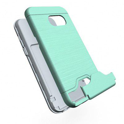 Shockproof Convenient One Card Slot Hard Back Case for Samsung Galaxy A3 2017Samsung A Series<br>Shockproof Convenient One Card Slot Hard Back Case for Samsung Galaxy A3 2017<br><br>Features: Back Cover, With Credit Card Holder<br>Material: PU Leather<br>Package Contents: 1 x Shockproof Back Case<br>Package size (L x W x H): 10.00 x 10.00 x 5.00 cm / 3.94 x 3.94 x 1.97 inches<br>Package weight: 0.0500 kg<br>Product weight: 0.0300 kg<br>Style: Solid Color