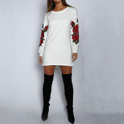 Ladies Floral Long Sleeve SweatshirtTees<br>Ladies Floral Long Sleeve Sweatshirt<br><br>Collar: Round Neck<br>Elasticity: Micro-elastic<br>Fabric Type: Cotton and kapok hemp<br>Material: Cotton, Polyester<br>Package Contents: 1 x Sweatshirt<br>Pattern Type: Patchwork<br>Shirt Length: Long<br>Sleeve Length: Full<br>Style: Fashion<br>Weight: 0.2500kg