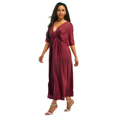 Honeyle Womens Plus Size DressPlus Size Dresses<br>Honeyle Womens Plus Size Dress<br><br>Dresses Length: Knee-Length<br>Elasticity: Elastic<br>Fabric Type: Jersey<br>Material: Polyester, Rayon, Spandex<br>Neckline: V-Neck<br>Package Contents: 1 x Dress<br>Pattern Type: Solid<br>Season: Fall<br>Silhouette: Straight<br>Sleeve Length: Half Sleeves<br>Style: Fashion<br>Weight: 0.2500kg<br>With Belt: No