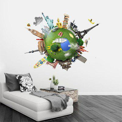 Creative Earth 3D Removable Home Decoration Wall StickersWall Stickers<br>Creative Earth 3D Removable Home Decoration Wall Stickers<br><br>Art Style: Toilet Stickers<br>Function: 3D Effect, Decorative Wall Sticker<br>Material: Vinyl(PVC)<br>Package Contents: 1 x Wall Sticker<br>Package size (L x W x H): 60.00 x 5.00 x 5.00 cm / 23.62 x 1.97 x 1.97 inches<br>Package weight: 0.2000 kg<br>Product size (L x W x H): 60.00 x 60.00 x 0.20 cm / 23.62 x 23.62 x 0.08 inches<br>Product weight: 0.1800 kg<br>Quantity: 1<br>Sizes: 60 x 60cm<br>Subjects: Landscape,Architecture<br>Suitable Space: Living Room,Bedroom,Dining Room,Office,Kids Room,Study Room / Office,Game Room<br>Type: 3D Wall Sticker
