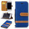 Fight Color Denim Pu Phone Case for Iphone 6 6S - ROYAL