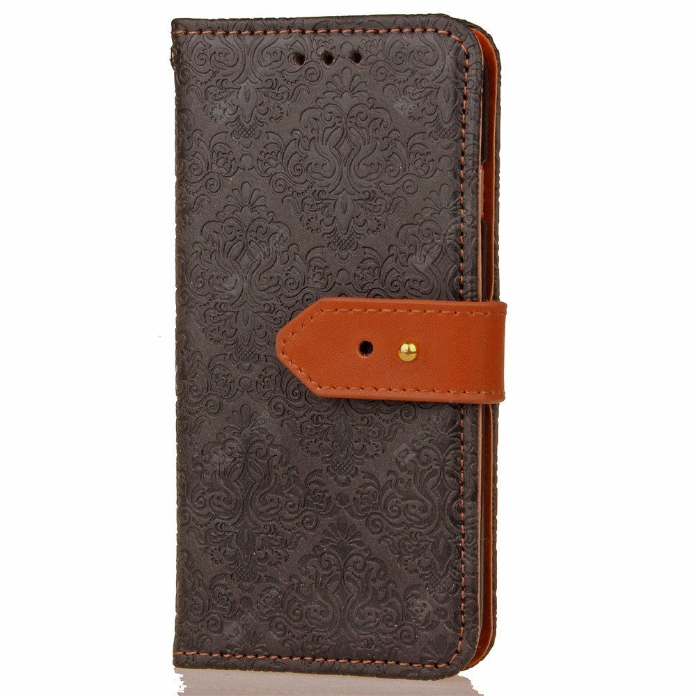 Yc European Style Card Lanyard Pu Leather Case for Samsung S6