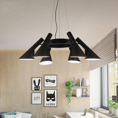 Buy BLACK Lanshi Warrior Chandelier Characteristic Lamp for $214.42 in GearBest store