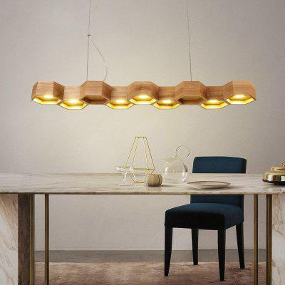 Buy WOOD Lanshi Solid Wood Hive A Chandelier Home Necessary for $243.63 in GearBest store