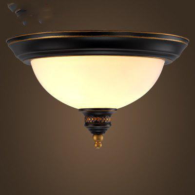 Buy BLACK AND GOLDEN Lanshi European Ceiling Lamp Retro Glass Lamp for $52.59 in GearBest store