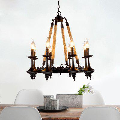Buy BLACK Lanshi Art Candle A Chandelier Retro Chandelier for $542.32 in GearBest store