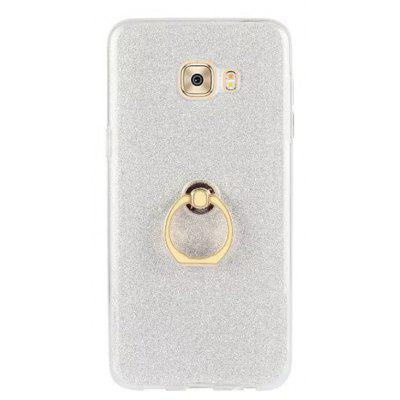 Wkae Soft Flexible TPU Back Cover Case Shockproof Protective Shell with Bling Glitter Sparkles  and Kickstand for Samsung Galaxy C7 Pro