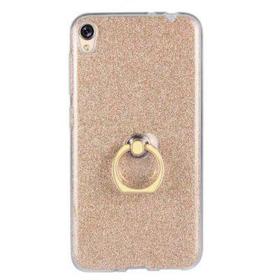 Buy GOLDEN Wkae Soft Flexible TPU Back Cover Case Shockproof Protective Shell with Bling Glitter Sparkles and Kickstand for Asus ZenFone 3 Go Live ZB501KL for $5.65 in GearBest store