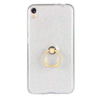 Buy WHITE Wkae Soft Flexible TPU Back Cover Case Shockproof Protective Shell with Bling Glitter Sparkles and Kickstand for Asus ZenFone 3 Go Live ZB501KL for $5.65 in GearBest store