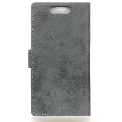 Durable Retro Style Solid Color Flip PU Leather Wallet Case for ZTE V8