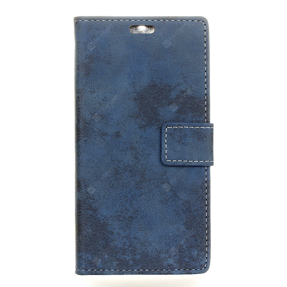 Durable Retro Style Solid Color Flip PU Leather Wallet Case for Alcatel A5 LED