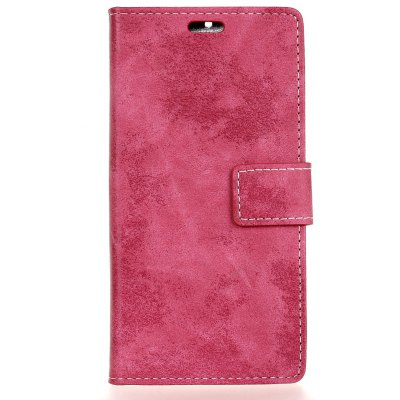 Buy ROSE RED Durable Retro Style Solid Color Flip PU Leather Wallet Case for Alcatel OneTouch Pixi 4 Plus Power for $5.41 in GearBest store
