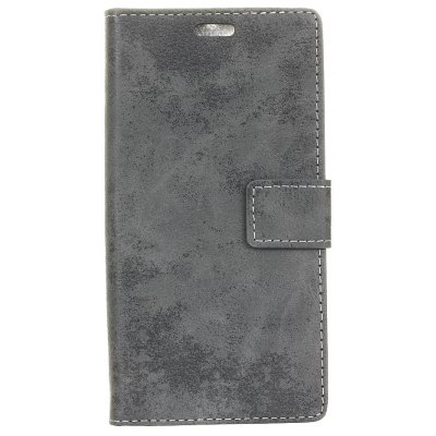 Durable Retro Style Solid Color Flip PU Leather Wallet Case for Doogee Y6