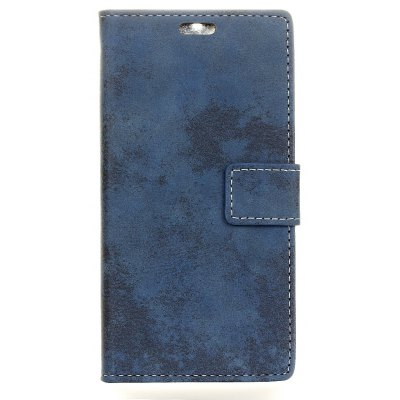 Durable Retro Style Solid Color Flip PU Leather Wallet Case for Samsung Galaxy J3 2017 (Europe Edition)