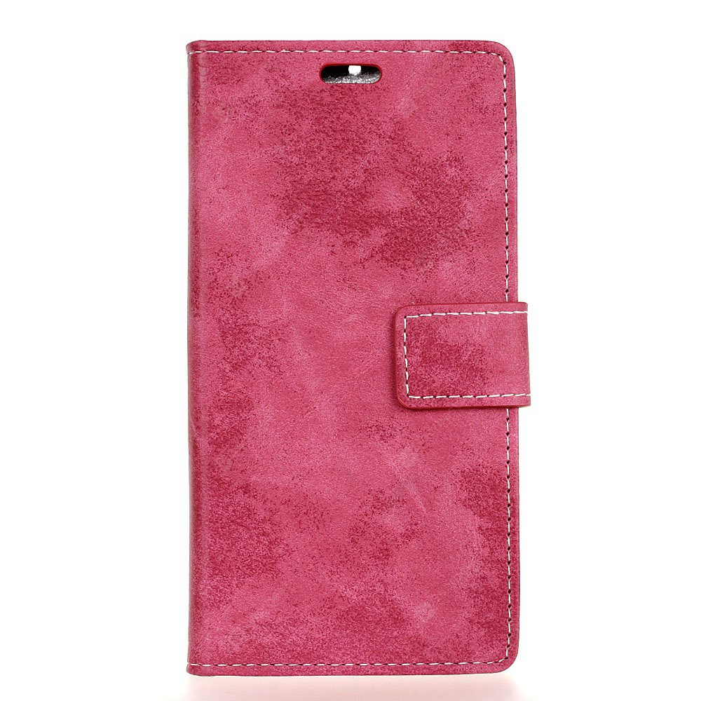 Durable Retro Style Solid Color Flip PU Leather Wallet Case for Samsung Galaxy J7 2017 (Europe Edition)