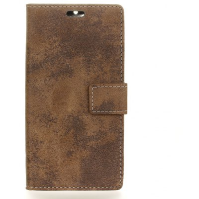 Buy BROWN Durable Retro Style Solid Color Flip PU Leather Wallet Case for Samsung Galaxy X Cover 4, G390F for $4.59 in GearBest store