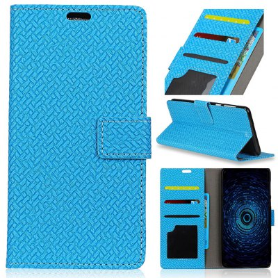 Buy BLUE Woven Pattern Flip Front Buckle Pu Leather Wallet Case for Samsung Galaxy J3 Emerge for $4.59 in GearBest store