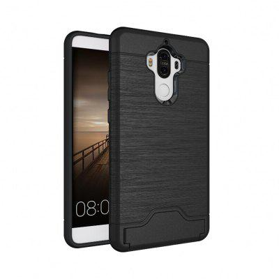 Buy BLACK Shockproof Convenient One Card Slot Hard Back Case for Huawei Ascend Mate 9 for $3.98 in GearBest store