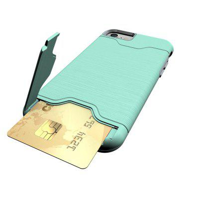 Shockproof Convenient One Card Slot Hard Back Case for iPhone 7iPhone Cases/Covers<br>Shockproof Convenient One Card Slot Hard Back Case for iPhone 7<br><br>Features: Back Cover, With Credit Card Holder<br>Material: PU<br>Package Contents: 1 x Shockproof Back Case<br>Package size (L x W x H): 10.00 x 10.00 x 5.00 cm / 3.94 x 3.94 x 1.97 inches<br>Package weight: 0.0500 kg<br>Product weight: 0.0300 kg<br>Style: Solid Color