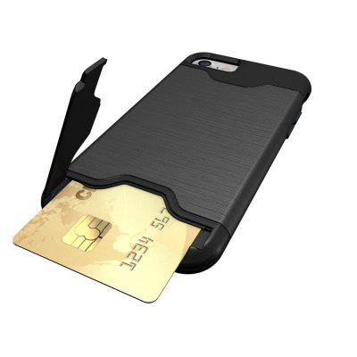 Shockproof Convenient One Card Slot Hard Back Case for iPhone 8iPhone Cases/Covers<br>Shockproof Convenient One Card Slot Hard Back Case for iPhone 8<br><br>Features: Back Cover, With Credit Card Holder<br>Material: PU Leather<br>Package Contents: 1 x Shockproof Back Case<br>Package size (L x W x H): 10.00 x 10.00 x 5.00 cm / 3.94 x 3.94 x 1.97 inches<br>Package weight: 0.0500 kg<br>Product weight: 0.0300 kg<br>Style: Solid Color