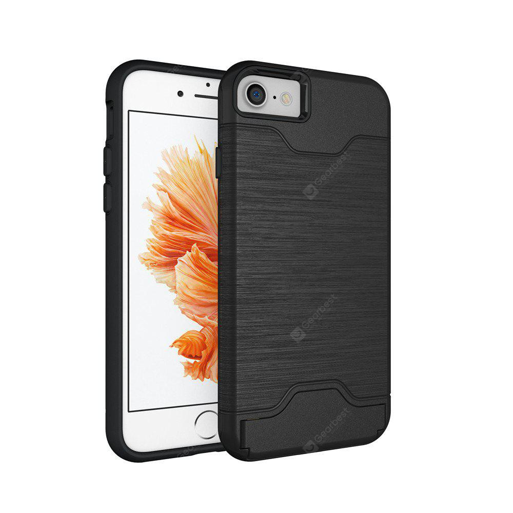 Shockproof Convenient One Card Slot Hard Back Case for iPhone 8