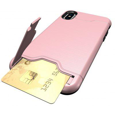 Shockproof Convenient One Card Slot Hard Back Case for iPhone X