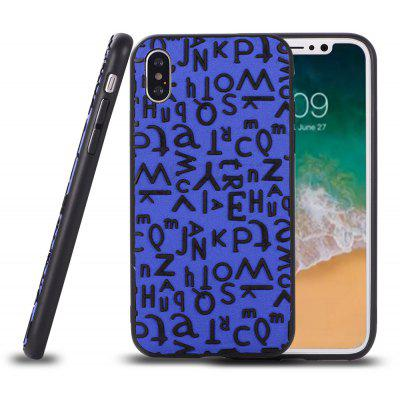 Letter Pattern Ultra-Thin Back Case for iPhone x