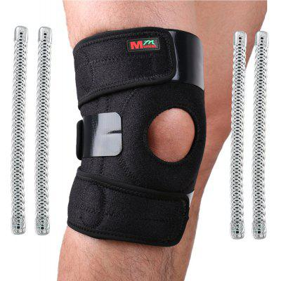 Mumian B11 Sports Leg Knee Patella 4 Spring Support Brace Cap Wrap Protector Pad Sleeve Black Silicone Pressure