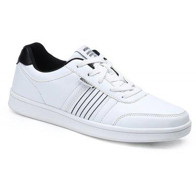 Striped and Solid Color Casual Shoes