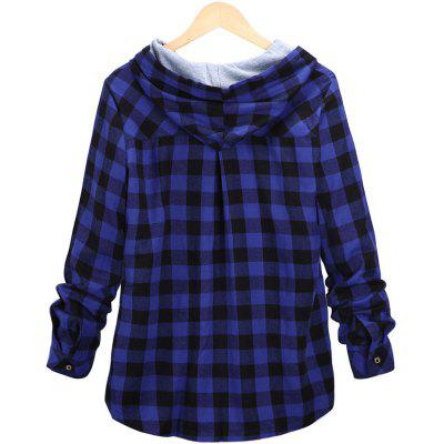Plus Size Checkered Long-Sleeved ShirtBlouses<br>Plus Size Checkered Long-Sleeved Shirt<br><br>Collar: Turn-down Collar<br>Elasticity: Nonelastic<br>Fabric Type: Cotton and kapok hemp<br>Material: Cotton, Polyester<br>Package Contents: 1 x Shirt<br>Pattern Type: Plaid<br>Shirt Length: Long<br>Sleeve Length: Full<br>Style: Streetwear<br>Weight: 0.4500kg