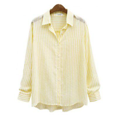 Striped Casual Long -Sleeved Shirt