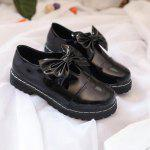 Bowknot Decorado Slip On Shoes - NEGRO
