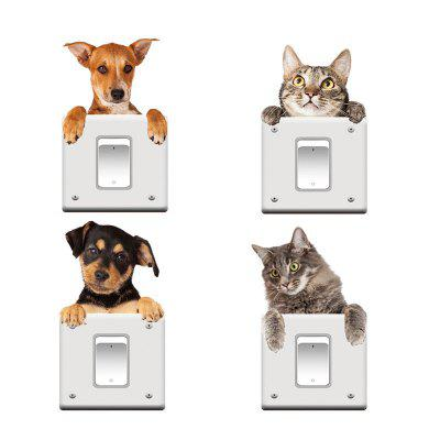 4PCS Cute Dogs Removable 3D Decorative Wall StickersWall Stickers<br>4PCS Cute Dogs Removable 3D Decorative Wall Stickers<br><br>Art Style: Toilet Stickers<br>Function: Light Switch Stickers, Decorative Wall Sticker, Fridge Sticker, 3D Effect<br>Material: Vinyl(PVC)<br>Package Contents: 1 x Wall Sticker<br>Package size (L x W x H): 19.00 x 5.00 x 5.00 cm / 7.48 x 1.97 x 1.97 inches<br>Package weight: 0.1000 kg<br>Product size (L x W x H): 20.00 x 19.00 x 0.20 cm / 7.87 x 7.48 x 0.08 inches<br>Product weight: 0.0800 kg<br>Quantity: 1<br>Subjects: 3D<br>Suitable Space: Living Room,Bedroom,Dining Room,Office,Kids Room,Study Room / Office,Game Room<br>Type: 3D Wall Sticker