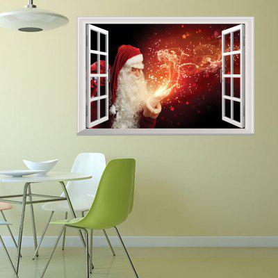 Creative Christmas Old Man Fireworks 3D Home Decoration Wall Stickers