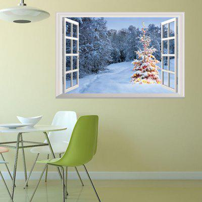 Creative Christmas Snow Mountain 3D Home Decoration Wall Stickers