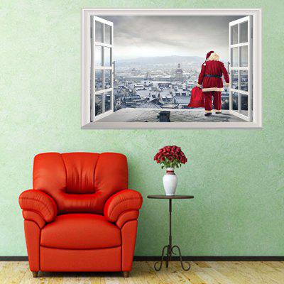 Personalized Santa Claus Gift 3D Home Decoration Wall Stickers