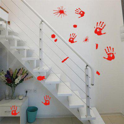 Creative Halloween Hand-Printed Home Decoration Wall Stickers