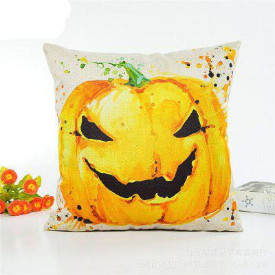 Creative Halloween Pumpkin Holding Flax pillow Case Home Decoration Pillowcase