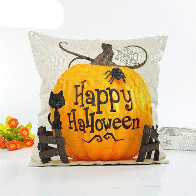 Creative Halloween Cat Pumpkin Flaxen Pillow Covers Home Decoration Pillowcase