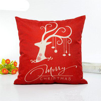 Fashion Christmas Happy Flax Pillow Covers Home Decoration Pillowcases