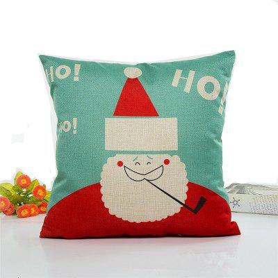 Lovely Santa Claus Flax Pillow Case Home Decoration Pillow Covers