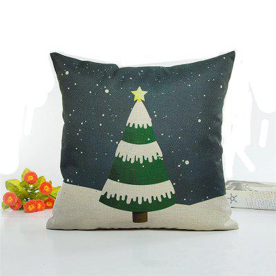 Creative Christmas Tree Flax Pillow Case Home Decoration Pillowcase