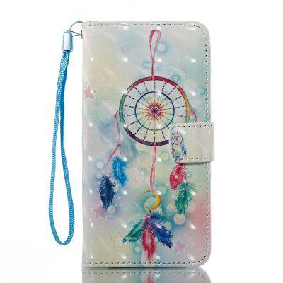 Feather Wind Chimes 3D Painted Pu Phone Case for Samsung Galaxy J5 2016