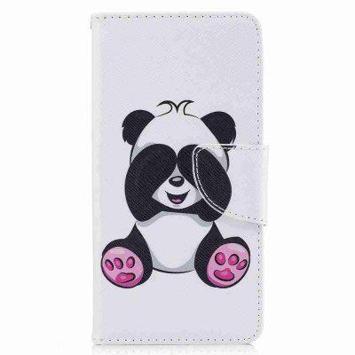 Giant Panda Painted Pu Phone Case for Huawei P10