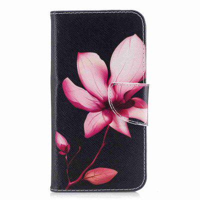 Lotus Painted Pu Phone Case for Huawei P8 Lite 2017