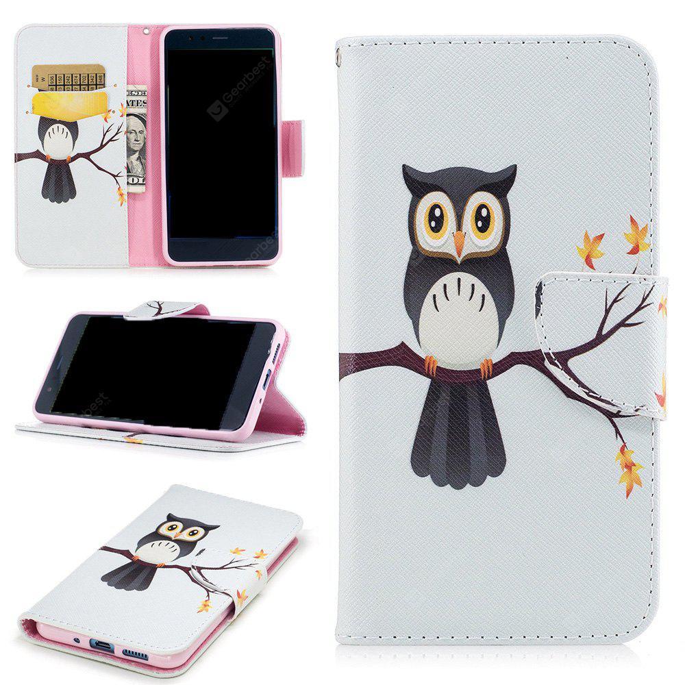 Tree Eagle Painted Pu Phone Case for Huawei P10 Lite